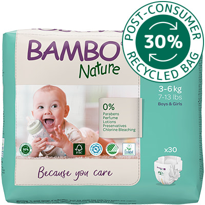 Bambo Nature diaper size 2 in I'm green packaging