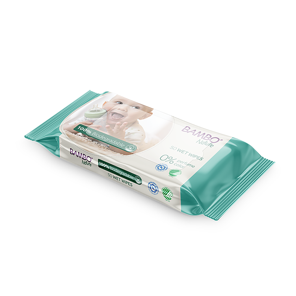 Bambo Nature Bio Wet Wipes 50 pieces