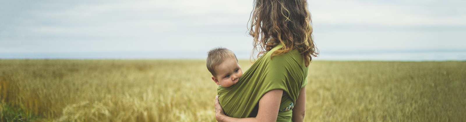 Woman and baby in Nature